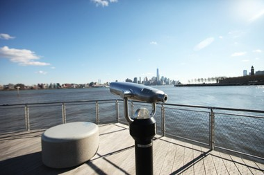The Hudson River Waterfront Walkway in Hoboken is great for a stroll and incredible view of New York City. Awkward selfies abound! (Bobby Olivier | NJ Advance Media for NJ.com)