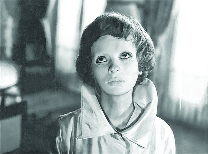 """Edith Scob as the masked Christiane in Georges Fanu's thoughtful horror film """"Eyes Without a Face"""" (1960)."""