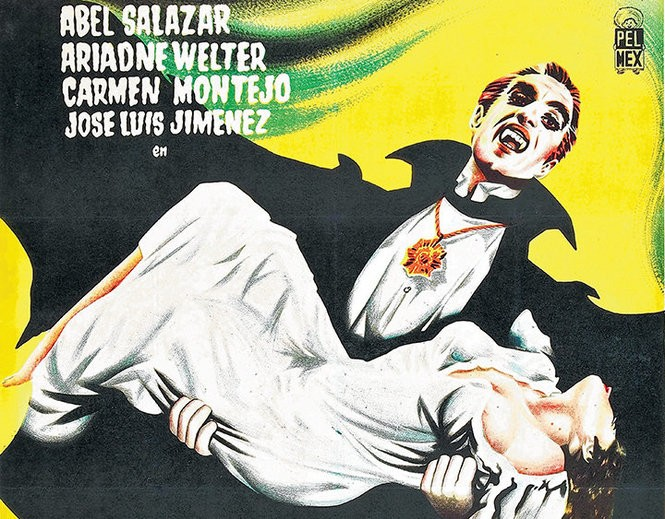 """German Robles made his film debut as the title fiend in the Mexican horror film """"El Vampiro"""" (1957)"""