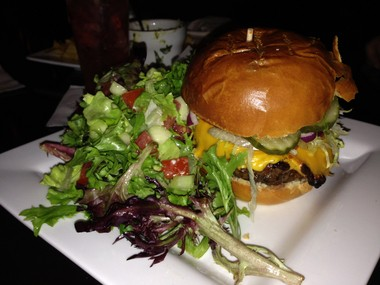 A cheeseburger and salad from The Downtown in Red Bank are a solid first date choice. Stay for the cover bands! (Bobby Olivier | NJ Advance Media for NJ.com)
