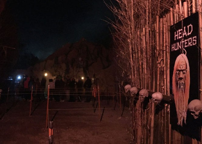 Outside Head Hunters, a new attraction at Night of Terror in Mullica Hill. (Brandy Speas/Night of Terror)