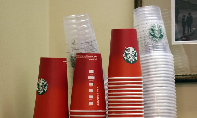 Can a red ombre cup promote inclusion and diversity? (Elaine Thompson/AP)