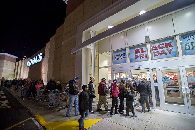 Shoppers head into the Kohl's in Brick Township on Thanksgiving night looking for Black Friday deals. (Andrew Mills | NJ Advance Media for NJ.com)