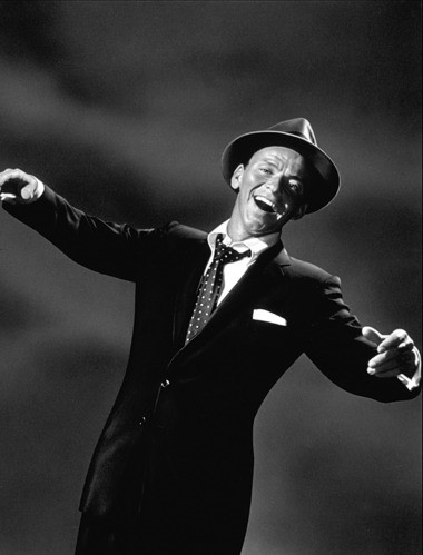 """Frank Sinatra's """"Swing Easy"""" Album Cover, 1954. (Photo by Sid Avery)"""