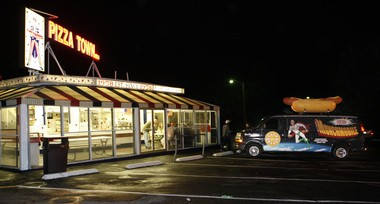 Pizza Town USA in Elmwood Park is a great late night pizza experience (Tim Farrell I The Star-Ledger)