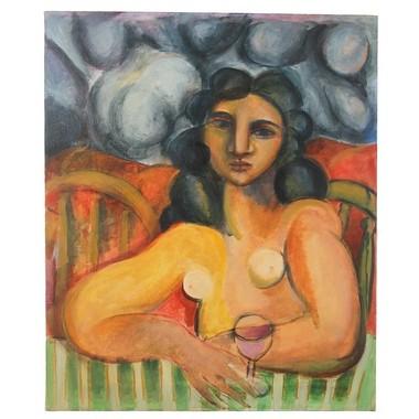 """Dreaming with Wine Glass"" by Bob Guccione."