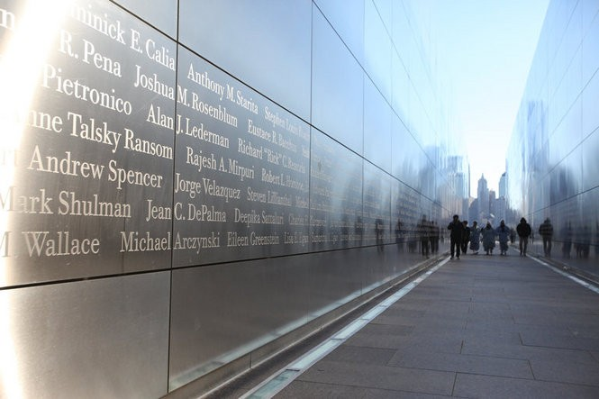 """The """"Empty Sky"""" Sept. 11 memorial at Liberty State Park in Jersey City. March 18, 2016. (Bobby Olivier 