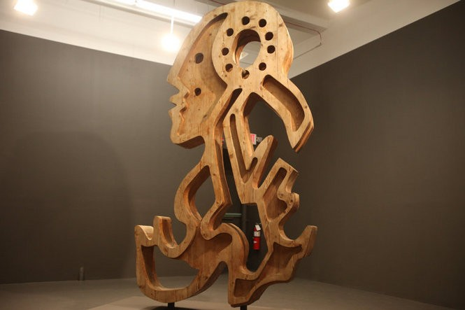 A sculpture created by actor Anthony Quinn, inside the Mana Contemporary art galleries in Jersey City. March 18, 2016. (Bobby Olivier | NJ Advance Media for NJ.com)