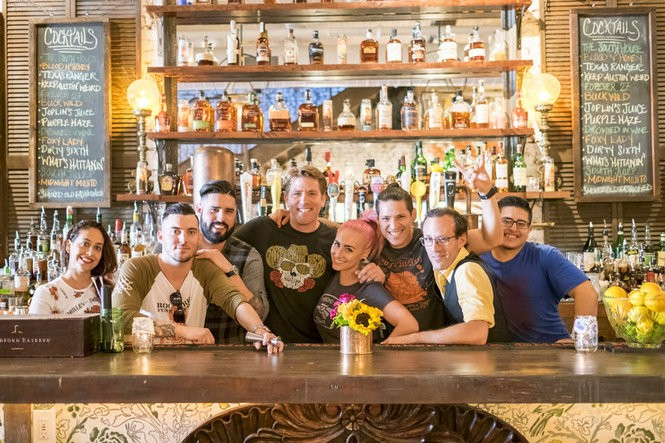 The staff at South House, a southern style restaurant and bar on Newark Avenue in Jersey City. (Jesse Brothers | The Jersey Journal)