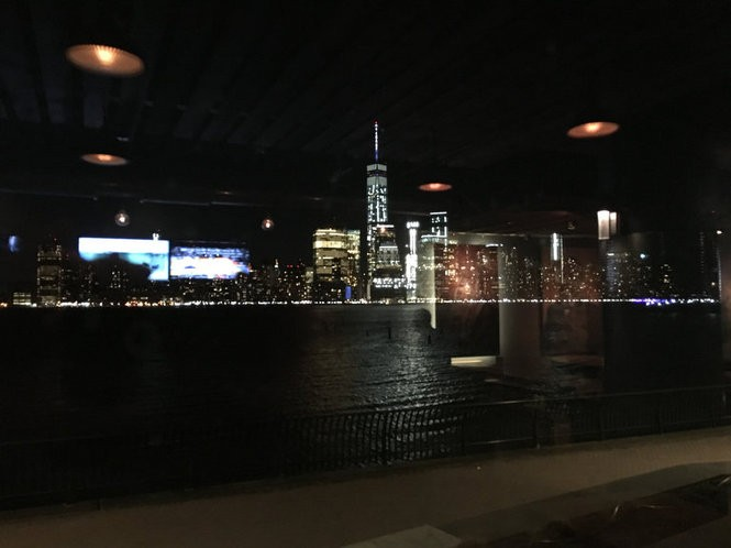The nighttime New York City skyline from TapHaus bar and restaurant in Jersey City. March 18, 2016. (Bobby Olivier | NJ Advance Media for NJ.com)