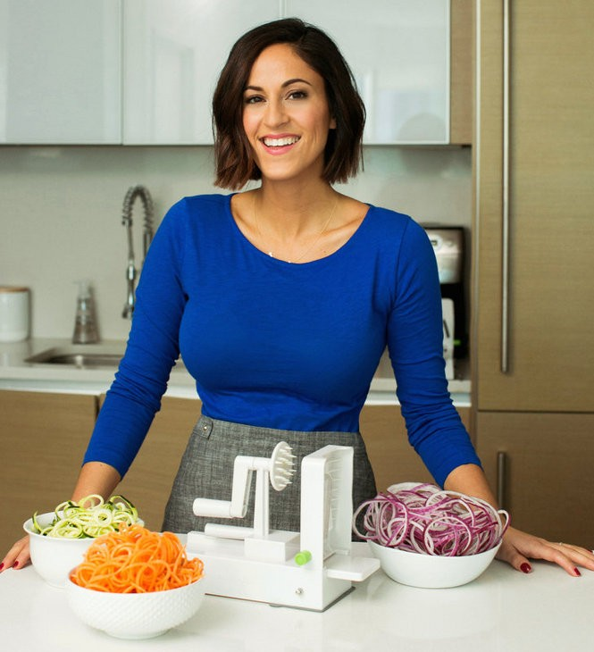 The Inspiralizer has adjustable blades that can produce different shapes of vegetable pasta. (Unique Lapin Photography)