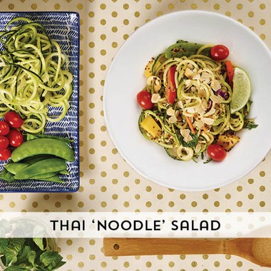 A pick from Houlihan's Inspiralized menu, made with spiralized zucchini, Maffucci's favorite type of spiralized vegetable. (Houlihan's)