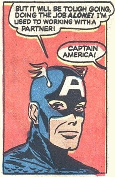 """Kenneth Bald's artwork from """"Captain America"""" #66 (1948)"""