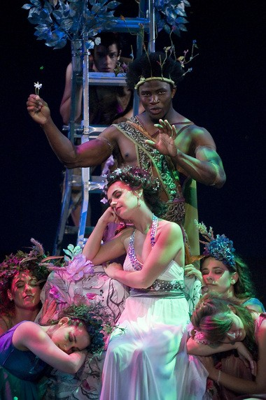"""Okieriete Onaodowan played Oberon in """"Midnight Madness,"""" a musical adaptation of Shakespeare's """"A Midsummer Night's Dream"""" for the New Jersey Youth Theatre."""
