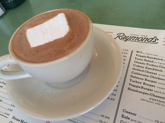 Belgian hot chocolate with a homemade marshmallow from Raymond's on June 10, 2016. (Sydney Shaw | NJ Advance Media for NJ.com)