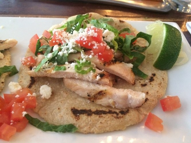 A customized chicken taco from Villalobos on June 10, 2016. (Sydney Shaw | NJ Advance Media for NJ.com)