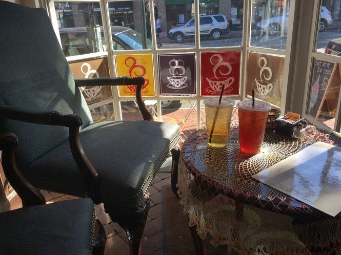 The coveted window seat in Trend Coffee and Tea House on June 10, 2016. (Sydney Shaw | NJ Advance Media for NJ.com)