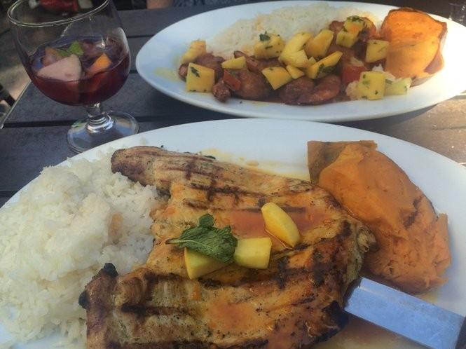 Pollo con mango and island shrimp conga atCuban Pete's on June 10, 2016. (Sydney Shaw | NJ Advance Media for NJ.com)