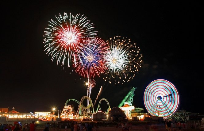 Fireworks over the Wildwood Boardwalk. (Star-Ledger file photo)
