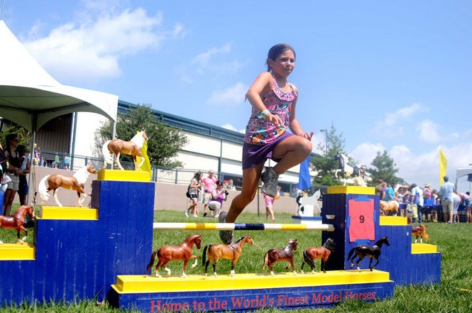 A horse-jumping activity will be part of the Pony Up! Festival in Gladstone. (Courtesy Breyer)
