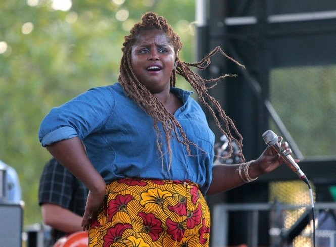 The Suffers deliver a fun and energetic set at Wiggins Park. (Tim Hawk | For NJ.com)
