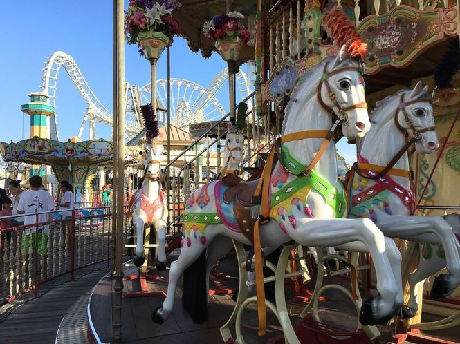It's not too late to enjoy amusement rides like the Carousel and Sea Serpent on Mariner's Pier in Wildwood.