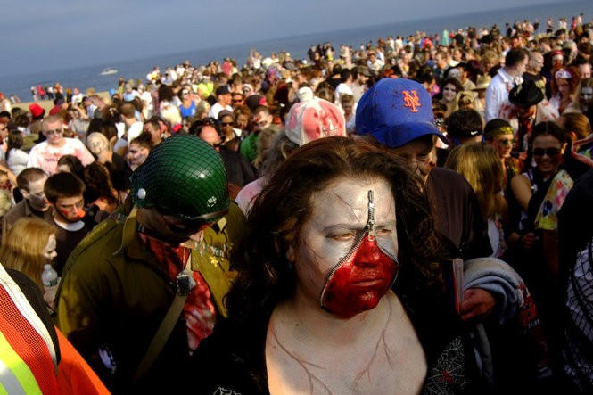 Zombie walks come shuffling back to New Jersey in October. Pictured: The former New Jersey Zombie Walk, which lives on as the Asbury Park Zombie Walk. (Aristide Economopoulos/The Star-Ledger)