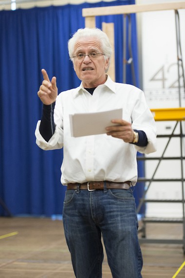 """Tony-winning director Jerry Zaks at a rehearsal for """"A Bronx Tale: The Musical,"""" which opened Dec. 1 at the Longacre Theatre."""