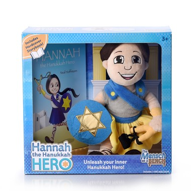 Hannah the Hanukkah Hero is among the latest in products catering to the Hanukkah-minded consumer. Such shoppers have more time to complete their haul this year. (Mensch on a Bench)