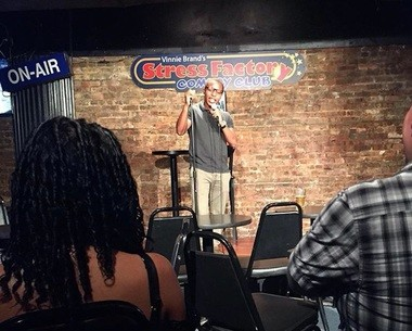 Local comedian Reggie Parker performs at open-mic night at the Stress Factory in New Brunswick in July 2016. (Marisa Iati | NJ Advance Media for NJ.com)