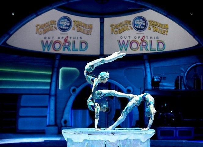 Ringling Bros. and Barnum & Bailey presents its Out of This World show at the Wells Fargo Center in Philadelphia, Friday, Feb. 17, 2017. The circus is closing its curtain in May after 146 years. (Lori M. Nichols | For NJ.com)