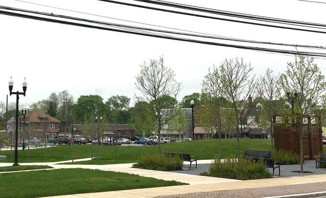 Glassboro Town Square on High Street in Glassboro, April 26, 2017. (Kelly Roncace | For NJ.com)
