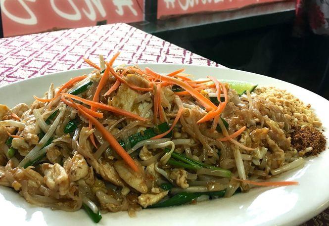 Pad Thai at Thai Burger Cafe in Pitman, April 26, 2017. (Kelly Roncace | For NJ.com)