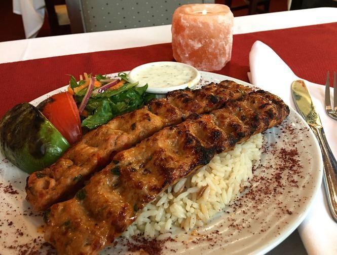 Chicken Adana at Family Mediterranean Cuisine restaurant in Pitman, April 26, 2017. (Kelly Roncace | For NJ.com)