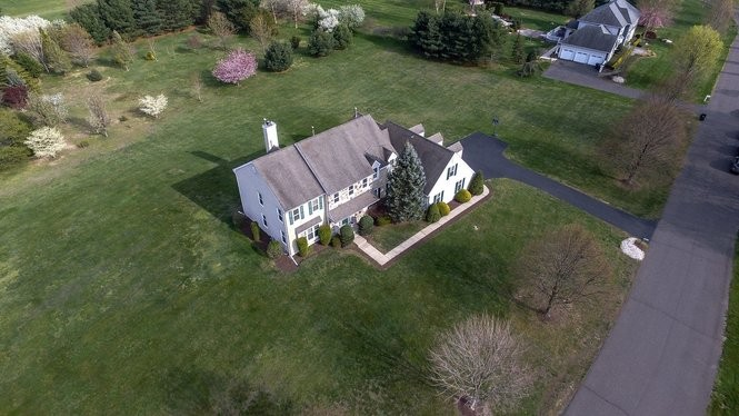 A shot from above the Millstone property Safonova is selling. (Cinema Flight)
