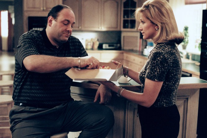James Gandolfini and Edie Falco in 'The Sopranos'. Some binge-watchers are reliving the series and others are experiencing the Jersey-set show for the first time. (Barry Wetcher/HBO)