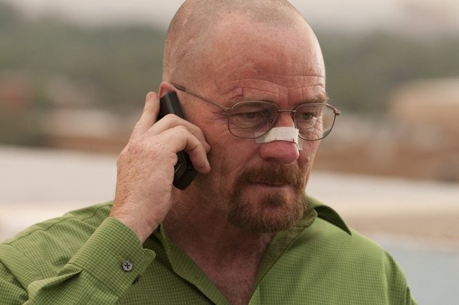 Bryan Cranston in AMC's 'Breaking Bad,' which some viewers binge-watched in order see the series finale live. (Gregory Peters/AMC)