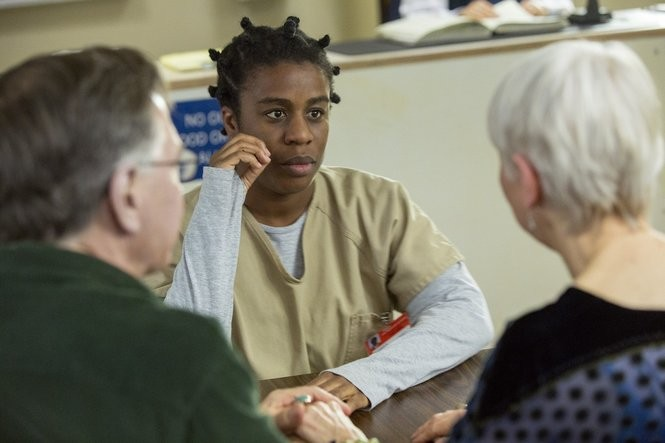 Uzo Aduba in the Netflix series 'Orange is the New Black.' Fans are awaiting the delivery of the second season next month. (Netflix)