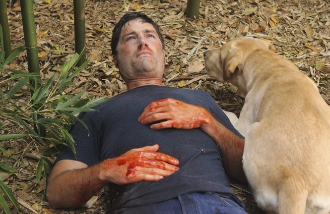 Matthew Fox in a scene from the 2010 series finale of 'Lost'. The ABC series' six seasons provide ample material for heavy bingeing. (Mario Perez/ABC)