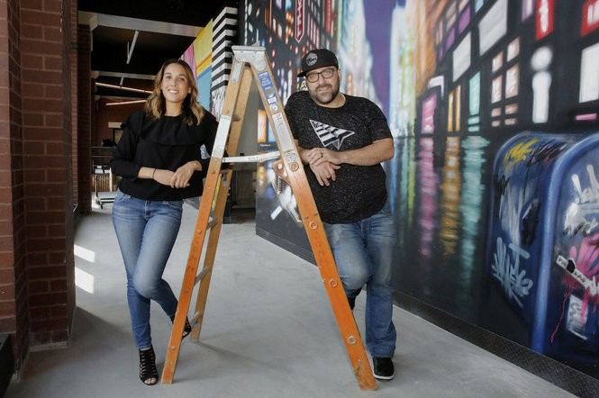 Chef Leah Cohen and husband and business partner, Ben Byruch open restaurant, Piggyback Bar in downtown Jersey City. (Ashlee Espinal | For NJ Advance Media)