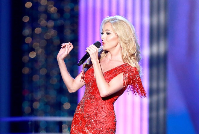 Miss Tennessee 2017, Caty Davis, performs Whitney Houston's 'I Have Nothing' in the talent portion of Miss America preliminaries at Boardwalk Hall in Atlantic City. Her pageant platform, which deals with addiction, draws from personal experience. (Tim Hawk | For NJ.com)