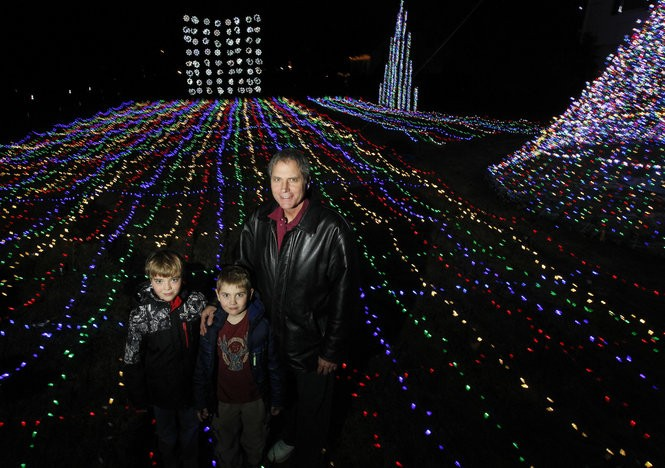 Christmas Spectacular on Main Street created by Keith Shaw with his sons Alexander Shaw and Kristopher Shaw. (Ed Murray | NJ Advance Media for NJ.com)