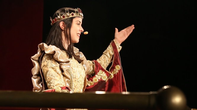Erin Zapcic plays Queen Dona Maria Isabella at Medieval Times in Lyndhurst. She's the first queen in the 28-year history of the castle. (Andre Malok | NJ Advance Media for NJ.com)