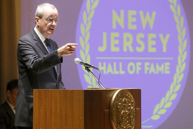 Gov. Phil Murphy announces the 2017 New Jersey Hall of Fame class at the State Museum in Trenton. (Aristide Economopoulos | NJ Advance Media for NJ.com)