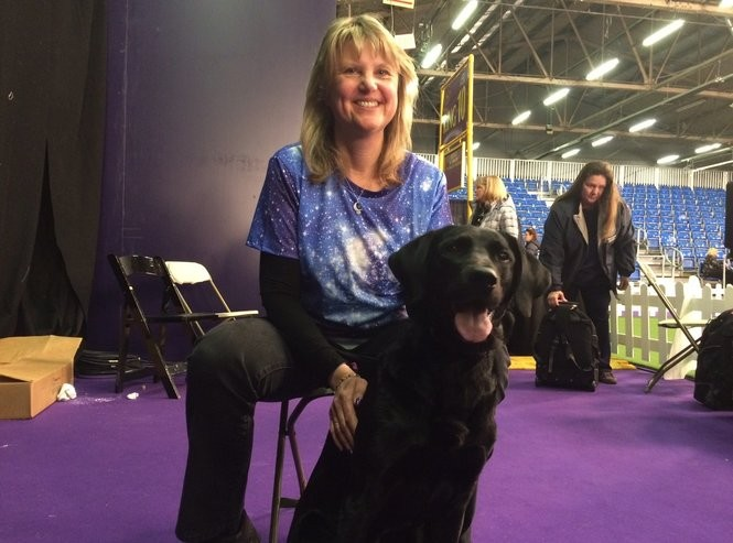Linda Brennan of Columbia, N.J. with Heart, her Labrador retriever, who won the Westminster Masters Obedience Championship for the third consecutive year on Monday, Feb. 12 at the 2018 Westminster Kennel Club dog show. (Amy Kuperinsky | NJ Advance Media for NJ.com)