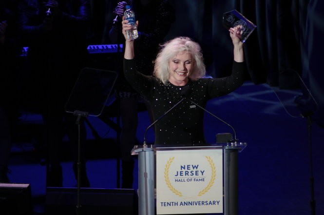 Debbie Harry of Blondie was inducted into the New Jersey Hall of Fame's 2017 class. Harry, who grew up in Hawthorne, said one of her main goals when she was younger was to leave New Jersey and see the world. (Bernadette Marciniak   NJ Advance Media for NJ.com)