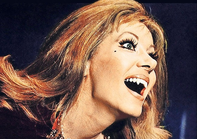 "Ingrid Pitt in ""The House That Dripped Blood."""
