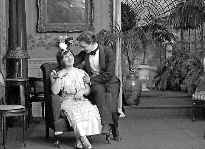 """A scene from """"Jack's Joke"""" (1913),a surviving kinetophone film."""