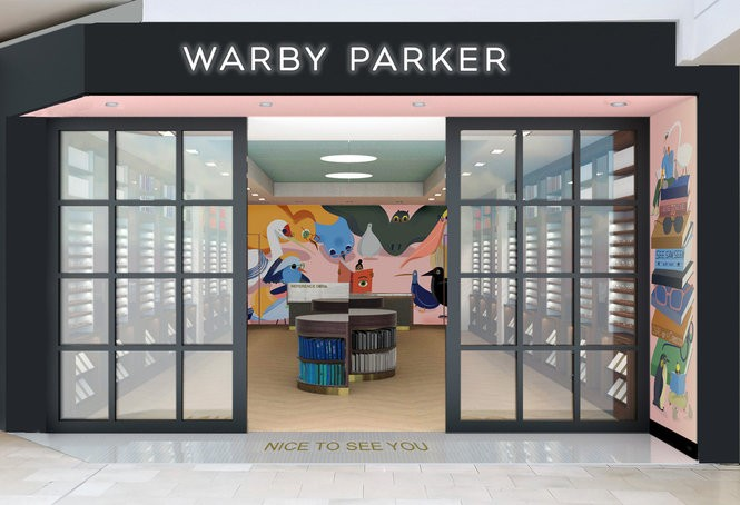 A rendering of the new Warby Parker store in Westfield Garden State Plaza, which opens on Sept. 15. (Warby Parker)