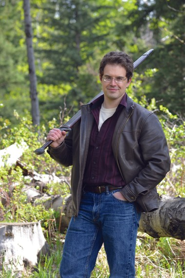 Among Christopher Paolini's hobbies is forging his own swords.
